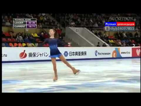 Юлия Липницкая заняла 1 место- Julia Lipnitskaya won 1 place
