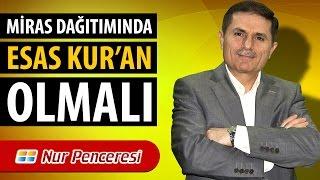 Dr. Ahmet ÇOLAK - Miras Dağıtımında Esas Kur'an Olmalı!