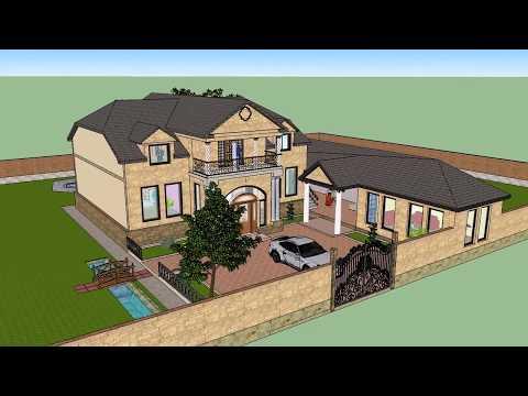 Мой проект дома в 3D формате (3-вариант)