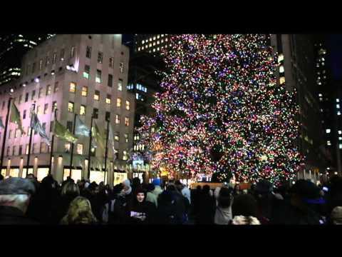 Rockefeller Center Tree & Skating/ Times Square 12/22/10 (Canon Rebel T2i nighttime Test)
