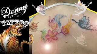 Tatuagem Jasmin Aquarela - Danny Tattoo (WaterColor Jasmin) Time Lapse