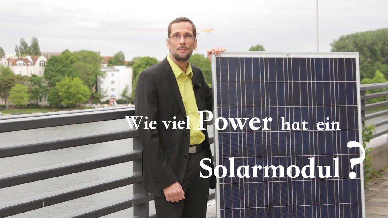 So viel Power hat ein Solarmodul