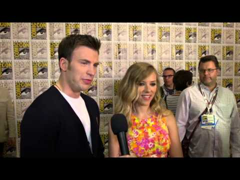 Chris Evans and Scarlett Johansson on San Diego Comic Con