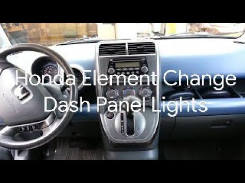 Honda Element - How to Change your Fan/Temp/Selector Panel Lights