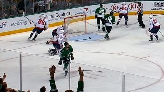 Seguin drops stick, looks up in disbelief after Grubauer absolutely robs him