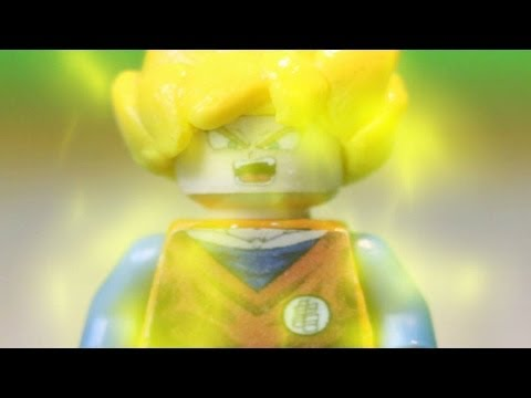 Lego Dragon Ball Z: Goku Transforms Into A Super Saiyan!