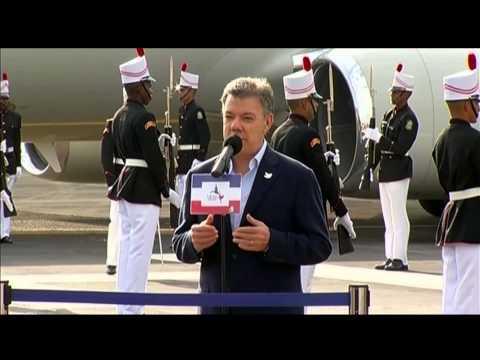 Declaración del Presidente Juan Manuel Santos a su llegada a Panamá - 9 de abril de 2015