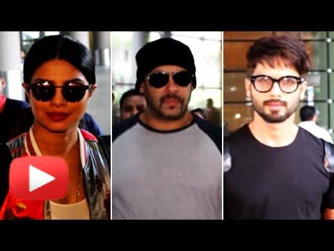 IIFA 2016 : Celebs Return : Mumbai Airport | Salman  Khan, Priyanka Chopra, Shahid Kapoor