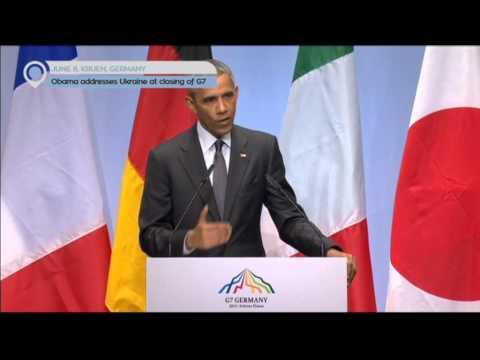 G7 Leaders Summit in Germany: Obama adresses Ukraine at closing G7 summit