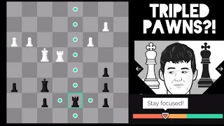 Magnus Carlsen Age 10 w/ Commentary - Tripled Pawns!