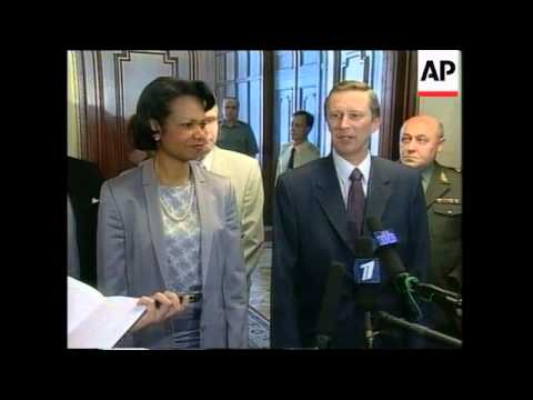 US Nat Security Adv Condoleeza Rice meets Russian Defence Min