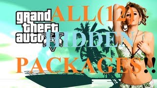 GTA 5: ALL HIDDEN PACKAGES!! ($130,000!)+ GUNS AND ARMOR