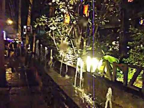 Sukhumvit Road , Bangkok at night.  The Party-Cocktail-VW-Bus