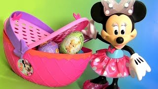 Minnie Mouse Picnic Basket Toy with Play Doh Clay Surprise Eggs from Disney Minnie's Bow-Tique