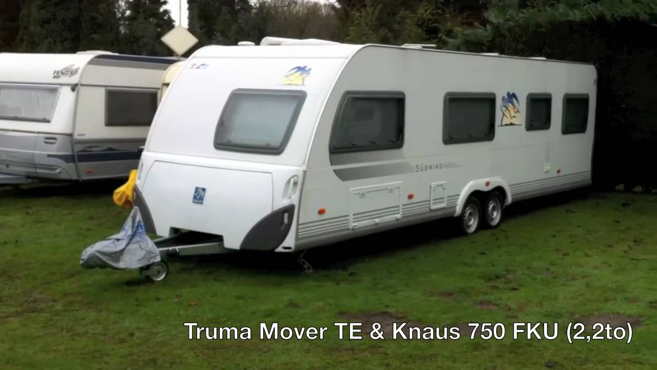 truma mover te knaus 750 fku auf nasser wiese youtube. Black Bedroom Furniture Sets. Home Design Ideas