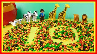Video for Kids Learning to Count 0 to 10 with Candy Numbers! Playmobil Noah