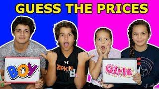 BOYS VS GIRLS GUESS THE PRICE CHALLENGE  | SISTER FOREVER