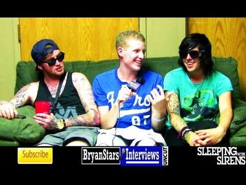 Sleeping With Sirens Interview #2 Kellin Quinn & Jesse Lawson UNCUT Warped Tour 2012