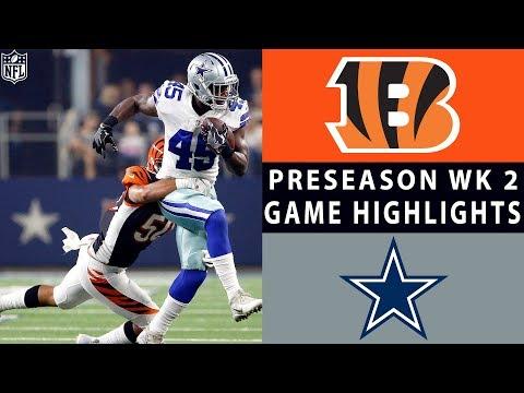 Bengals vs. Cowboys Highlights  NFL 2018 Preseason Week 2