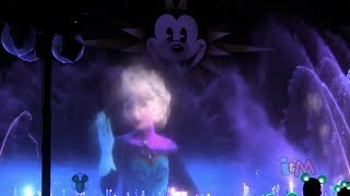 "FULL ""Frozen"" World of Color segment with ""Let It Go"" by Idina Menzel at Disneyland Resort"