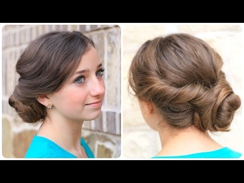 How to Create an Easy  Twisted Updo Plus Exciting