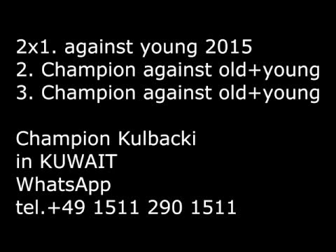 Kulbacki in Kuwait 2015/2016, 2x1st. young , 2 & 3 against young and old tel.+49 1511 290 1511
