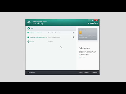 How to configure Safe Money in Kaspersky Internet Security 2014