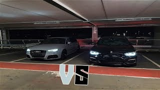 BMW M140i vs AUDI RS3 WHICH IS FASTER!? (shocking rolling race)