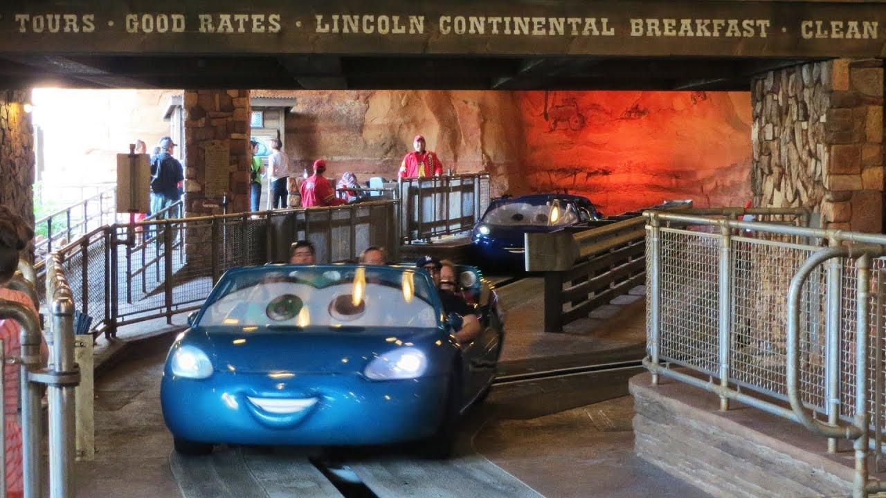 Radiator Springs Racers Full Ride Hd Pov At Disneyland S