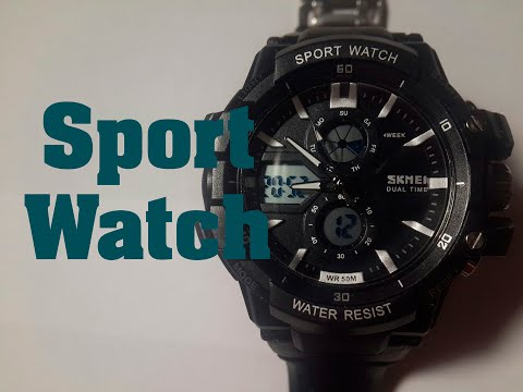 Часы Sport Watch Skmei обзор, настройка, проверка на водонепроницаемость