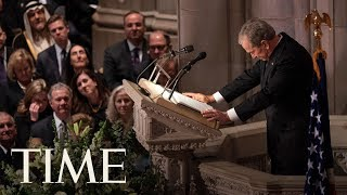 George W. Bush Emotionally Honors His Father,