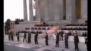 Inauguration Bill Clinton with many saxophone heroes