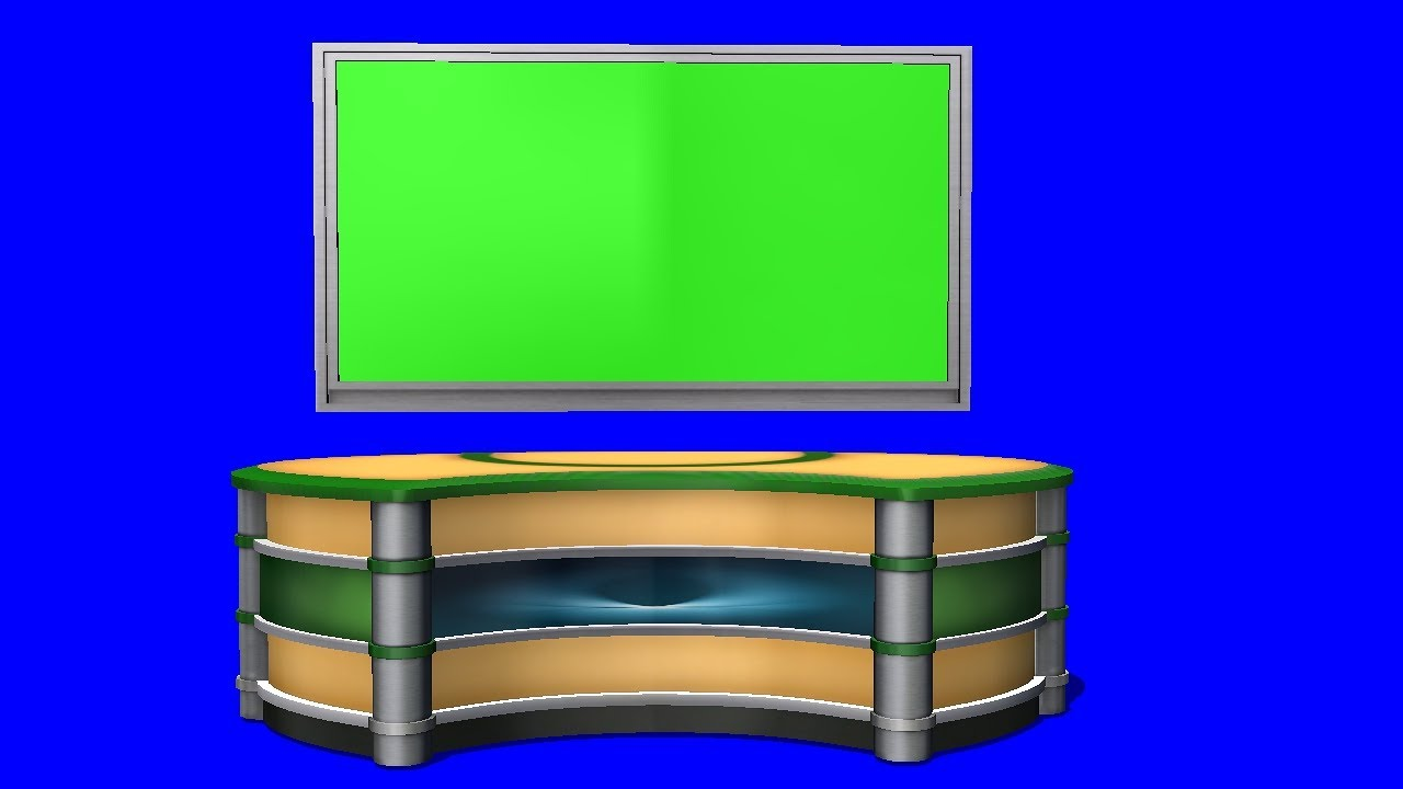 Virtual Tv Studio Background Green Screen Youtube