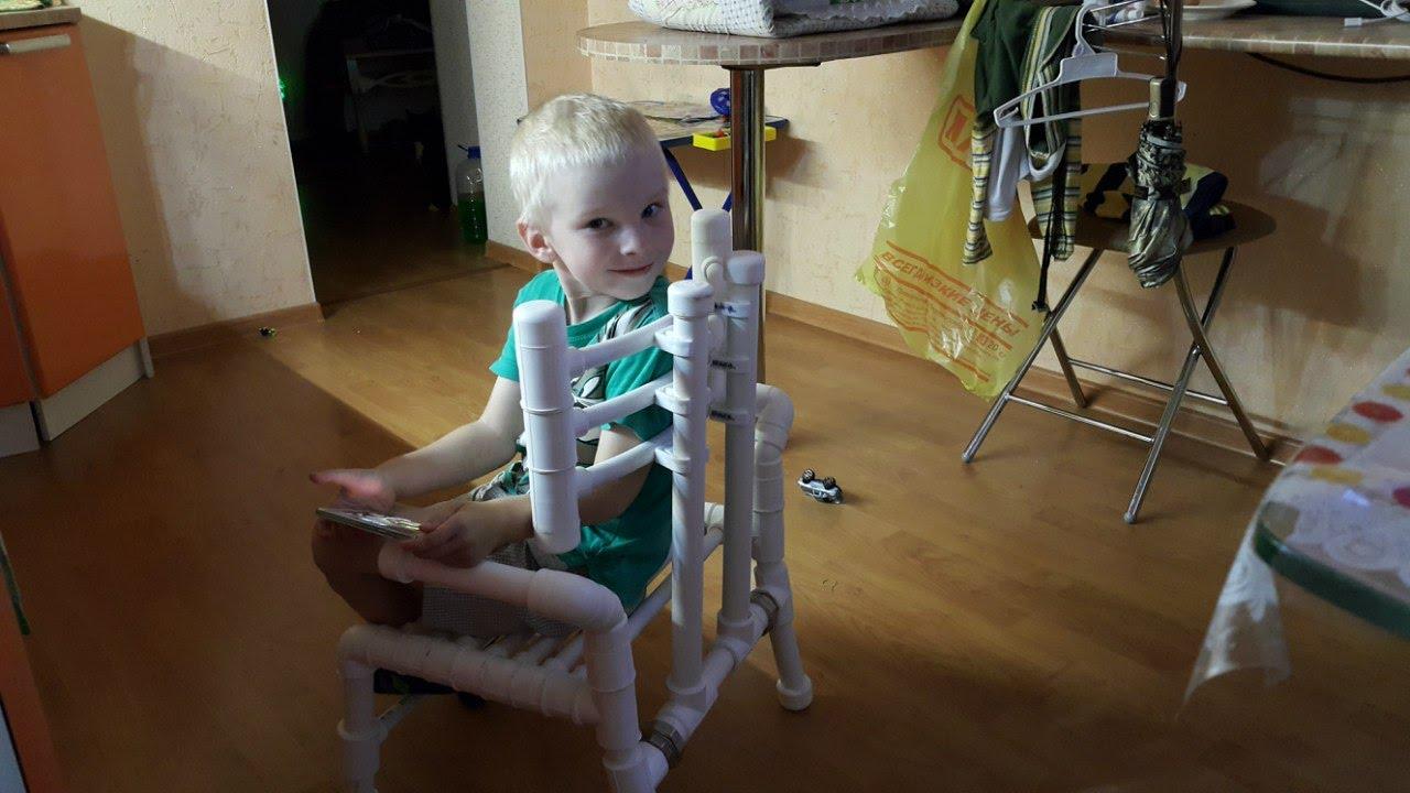 Как сделать стул из пвх труб