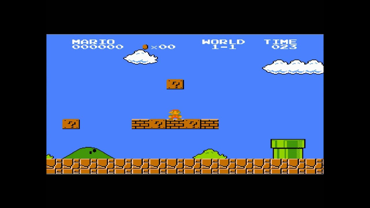 Super Mario Bros Time up/Game over screen - YouTube