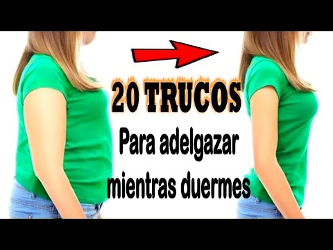 20 TRUCOS PARA ADELGAZAR MIENTRAS DUERMES   Mira como bajar de peso durmiendo