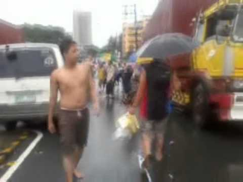 August 7, 2012. Flood from JRU to Lourdes Hospital