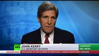 Seriously? Kerry tells (Russia) 'one doesn't invade country on phony pretext'  2/2/14