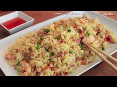Arroz Chino Frito - Cómo hacer Arroz Tres Delicias