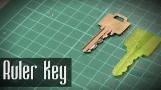 Evde anahtar kopyalama - cetvelden anahtar