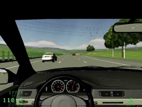 Driving Simulator 2009 with crash