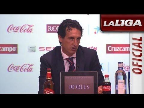 Rueda de Prensa de Unai Emery tras el Sevilla FC (1-3) Atlético de Madrid - HD