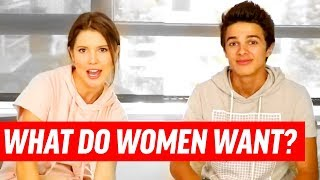 20 QUESTIONS ALL GUYS Want To Know About Girls ft. Amanda Cerny & Brent Rivera | Dating Advice Q&A