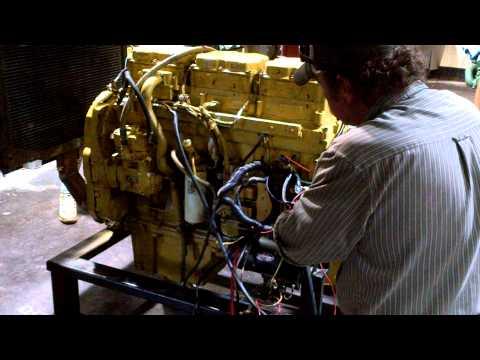 3176 CAT engine start up
