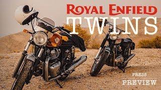 ROYAL ENFIELD TWIN INTERCEPTOR TWIN CONTINENTAL GT ANDAR DE MOTO MAI 2019