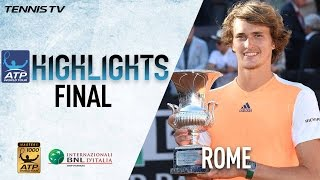 Rome Final Highlights: Zverev Beats Djokovic For First Masters 1000 Title