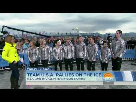 Savannah Guthrie wearing riding boots in Sochi - 10-Feb-2014