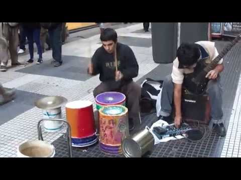 Damian Salazar e Sebastian Zoppi..amazing guitar and drum playing on the streets of Buenos Aires