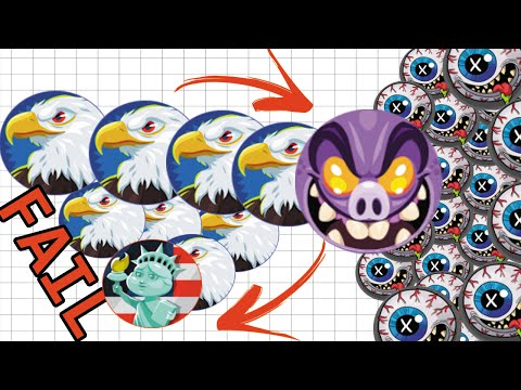 BIGGEST DOUBLE SPLIT FAIL ON AGARIO! #FAIL UNCUT GAMEPLAY