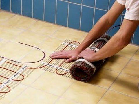 Теплый пол электрический видео своими руками